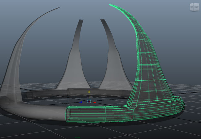 Screenshot: Scifi Burg in Maya 3D