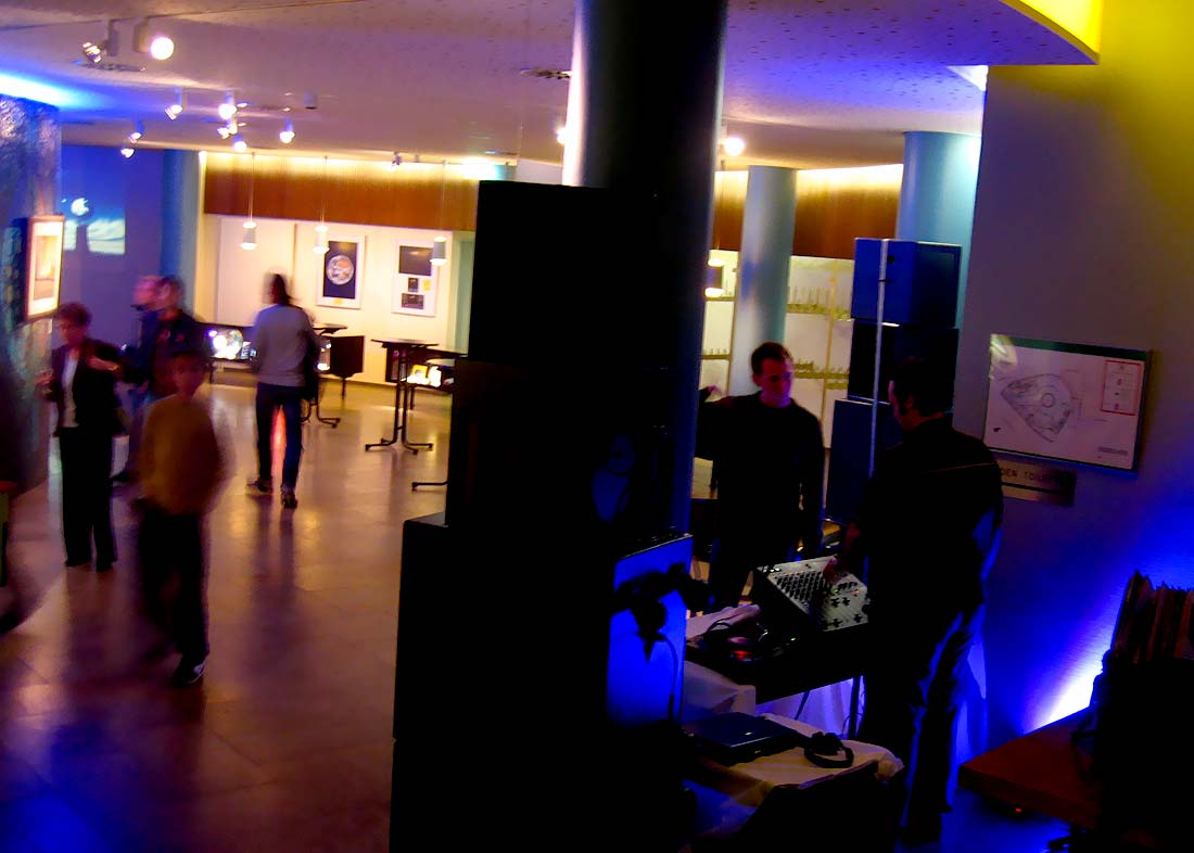 Photo: DJ Homebase, opening day at Planetarium Nürnberg