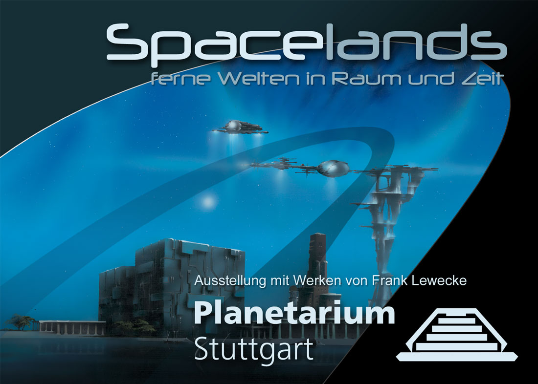 Flyer artwork for exhibition at Planetarium Stuttgart