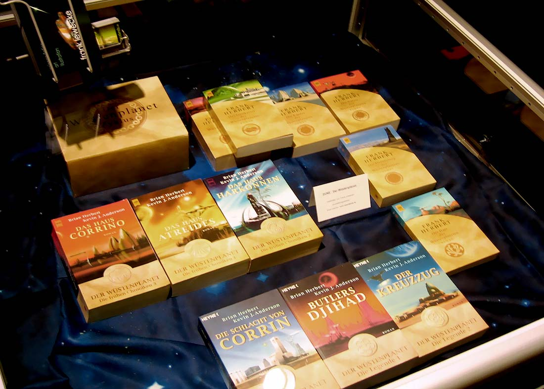 Photo: books and covers on display